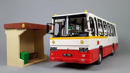 Autosan H9-21 w skali 1:14 zbudowany z klocków LEGO