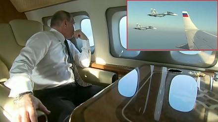 Reakcja Putina na eskortę myśliwców