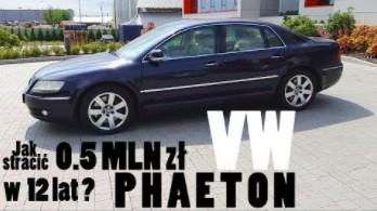 Volkswagen PHAETON V10 TDI, czyli jak stracić pół miliona zł w 12 lat?