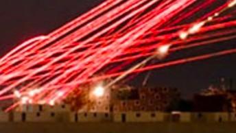 Atak helikopterów widziany przez kamery noktowizyjne