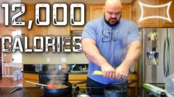Najsilniejszy człowiek na świecie zjada ponad 12 tysięcy kalorii dziennie