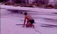 Wskoczył do lodowatego jeziora, by ratować psa