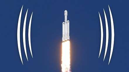 Start Falcon Heavy na nagraniu binauralnym - Smarter Every Day