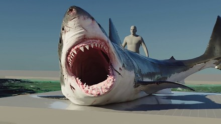 Realistyczny rekin w CGI