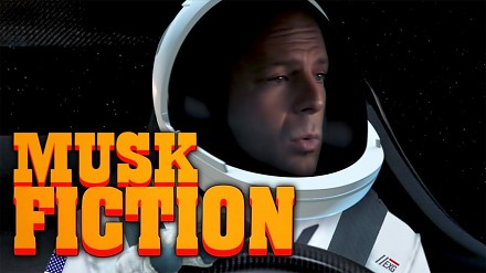 Musk Fiction - mashup SpaceX i Pulp Fiction