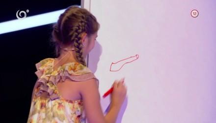 Karolínka kreśli kalambury w słowackim programie telewizyjnym