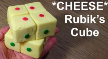 Działająca kostka Rubika zbudowana... z sera żółtego