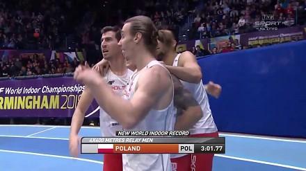 Fenomenalny bieg polskiej sztafety po złoto. Pokonali Amerykanów i ustanowili nowy rekord świata!