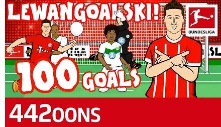 Bundesliga uhonorowała 100 gola Lewandowskiego dla Bayernu