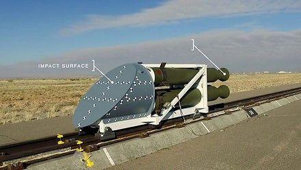 Crash test rakiety w zwolnionym tempie