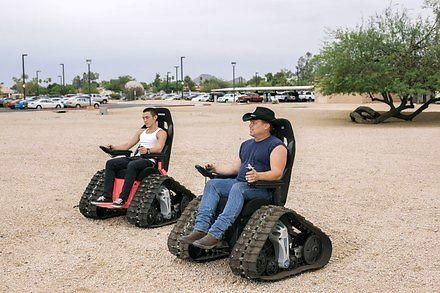 Ekstremalny wózek inwalidzki niczym czołg