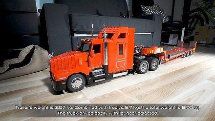 Zdalnie sterowana ciężarówka z LEGO budowana trzy lata