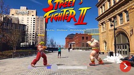 Street Fighter II w rozszerzonej rzeczywistości