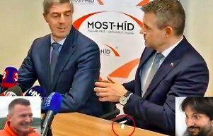 Nowy słowacki premier i dziwne białe zawiniątko