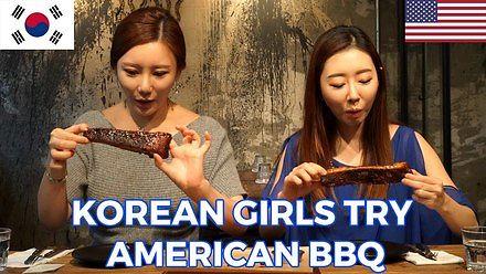 Koreanki próbują amerykańskie BBQ