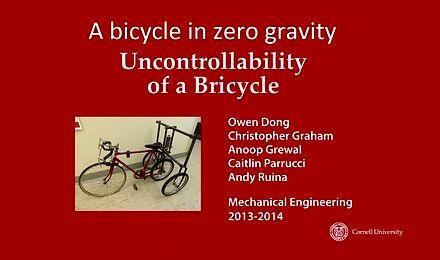 W zerowej grawitacji nie da sie jeździć na rowerze
