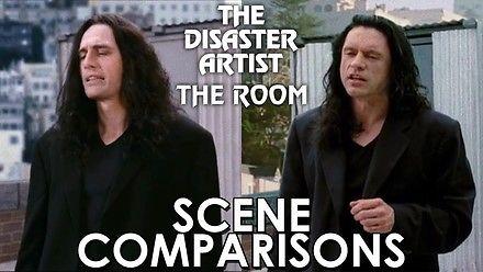 Porównanie scen z The Room i Disaster Artist