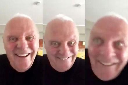 Internet oszalał na punkcie nowego filmiku 80-letniego Hopkinsa