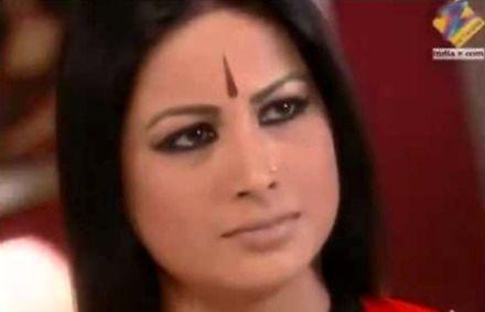 Dramatyczne przedstawienie postaci w hinduskim serialu