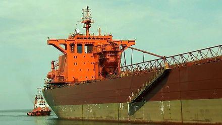 """250-metrowy masowiec """"YEOMAN BRIDGE """" wchodzi do gdańskiego portu"""