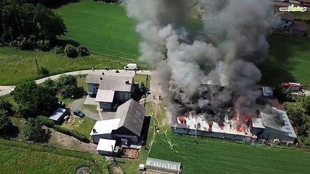 Dramatyczny pożar w Bielanach