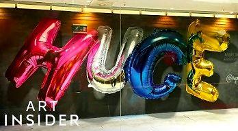 Czy to balony? Nie, to superrealistyczne graffiti