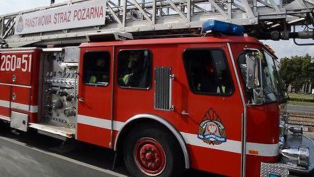 Bardzo głośny przejazd straży przez Kraków