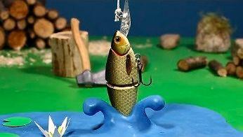 Wyprawa na ryby - piękna animacja poklatkowa
