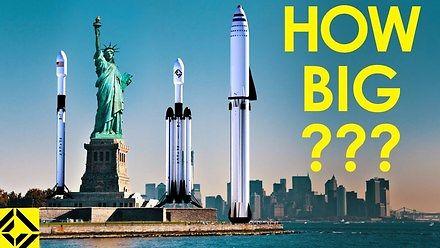 Jak duże są rakiety SpaceX?