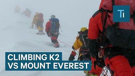 Różnica między wspinaczką na K2 a Mount Everest