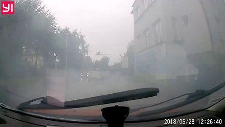 Jaki kur*a poj*b na drodze w Bielsku