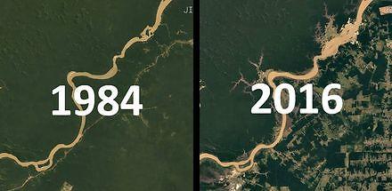 Tak zmienił się świat. Zdjęcia satelitarne od 1984 do 2016