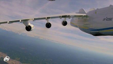 Relaksujący przelot Antonovem AN-225