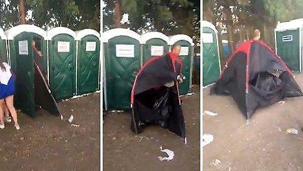 Najlepszy sposób na pilnowanie namiotu w czasie festiwalu