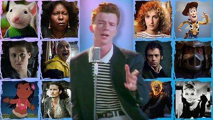 """""""Never Gonna Give You Up"""" zaśpiewane przez 169 filmów"""