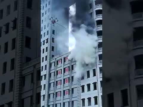 Dron na wyposażeniu straży pożarnej w Chinach