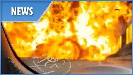 Wielki wybuch cysterny na obwodnicy Bolonii