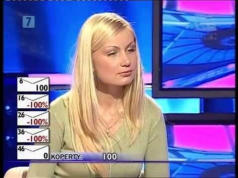 """Blondynka w teleturnieju """"Gra w ciemno"""""""