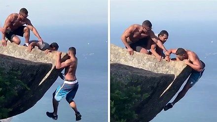 Chciał mieć idealne zdjęcie na skale, omal nie przypłacił tego życiem