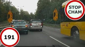 Niebezpieczne i chamskie sytuacje na drogach, czyli kompilacja Stop Cham