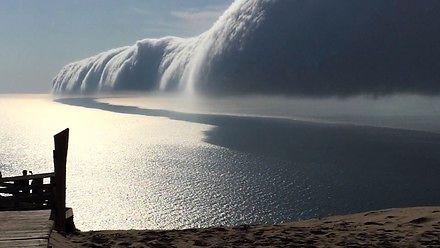 Wał szkwałowy nad jeziorem Michigan