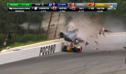 Przerażający wypadek w IndyCar