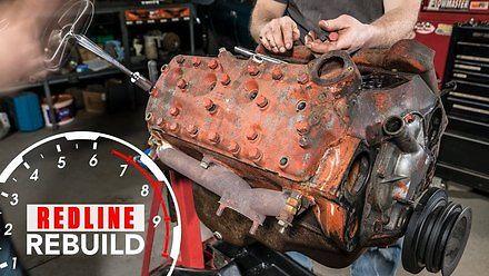 Renowacja silnika V8 z forda pickupa z 1946 roku