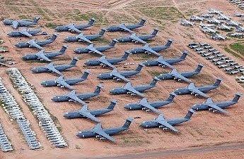 Cmentarzysko samolotów w Arizonie - ponad 5000 maszyn