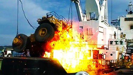 Spektakularne wypadki w pracy z ciężką maszynerią