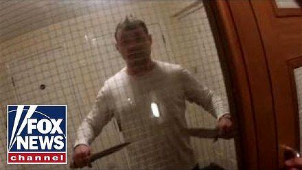 Brytyjscy policjanci w starciu z nożownikiem