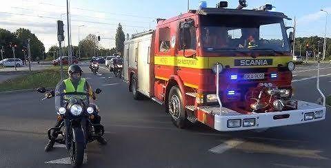 Widowiskowy konwój ciężarówek Scania w Gdańsku
