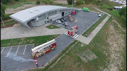 Strażacki konwój - przejazd do nowej strażnicy