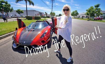 Ładna pani testuje nowego Koenigsegg Regera