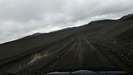 Typowa droga na Islandii